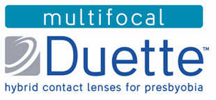 Duette Multifocal hybrid contact lenses for presbyobia